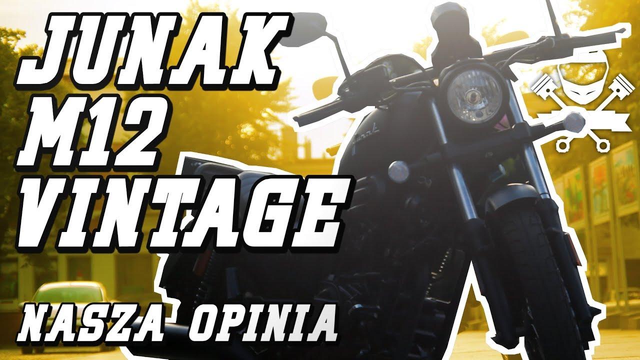 Junak M12 Vintage – Motocykl 125 w Matowej Czerni